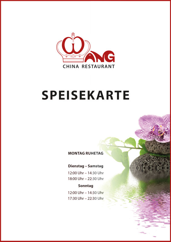 Speisekarte China Restaurant Wang